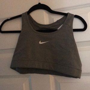 Gray Nike sport bra